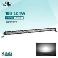 CO LIGHT Super Slim 10D 20 Led Work Light 12V 104W Led Bar Combo Spot Flood for Jeep ATV Boat Trucks Tractor Driving Light Bar