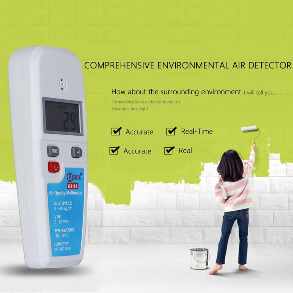 цены BSIDE  EET100 LCD Air Quality Multimeter Dust VOC Temperature Humidity Meter Worldwide store
