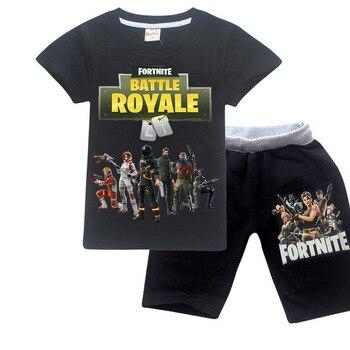 Fornite Game Pyjama Sets Nighties Battle Royale pijamas Big Boys Sleepwear Kids Pajamas Set Children Sports Suits Tees + Pants