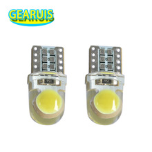 100X Bright T10 COB LED 40MA Silicone case Instrument light License plate Bulbs Wedge Lamp Car styling LED 12V White 7 colors