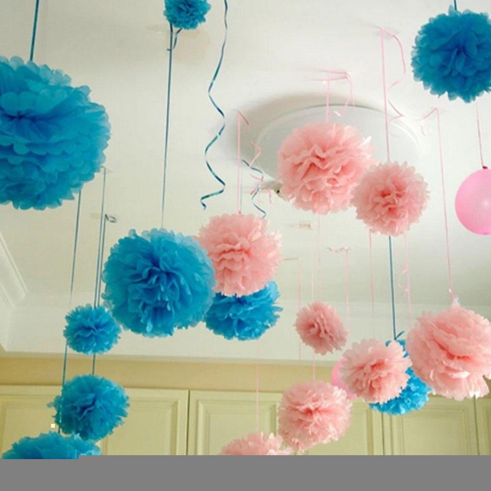 unids artificial bolas de flores de papel
