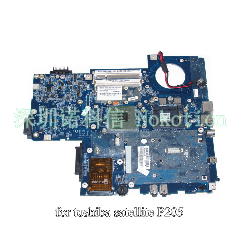 K000051420 ISRAE LA-3711P For toshiba Satellite P200 P205 laptop motherboard 943GML DDR2 without graphics slot free CPU nokotion sps v000198120 for toshiba satellite a500 a505 motherboard intel gm45 ddr2 6050a2323101 mb a01