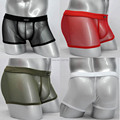 Men's See Through Soft Mesh Boxers  Underwear Comfy Trunks Boxers