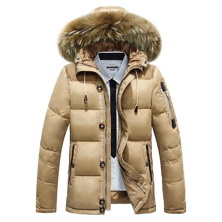 Adibo Maxi Light Down Men Winter Jacket Goose Down Jacket Short Men Coat With Fur Collar Plus Size Mens Jackets And Coats