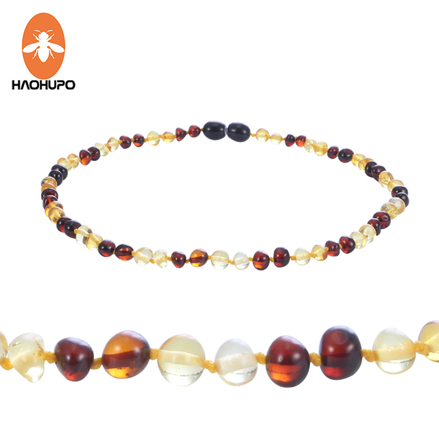 HAOHUPO New Design Amber Bracelet / Necklace for Baby Baltic Natural Amber Jewel