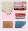 40*60cm Handwoven Soft Wool Blanket Basket Stuffer Filler Newborn Baby Photography Backdrops Photo Studio Props Shower Gift