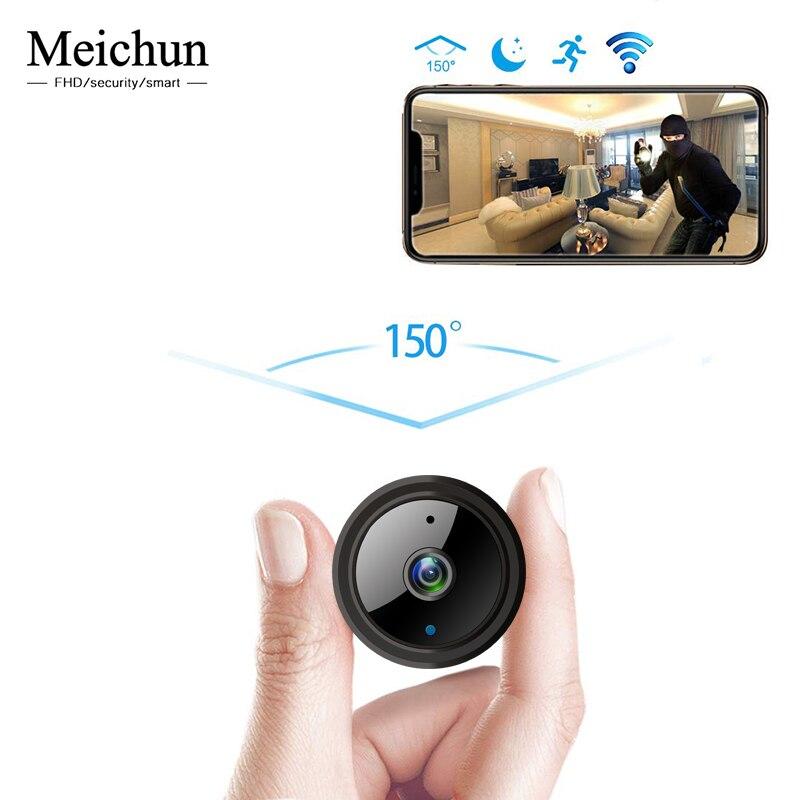 Meichun Mini caméra WIFI 2MP 1080 P Version nocturne Micro caméra IP avec capteur de mouvement caméscope petit Camer pour carte TF cachée