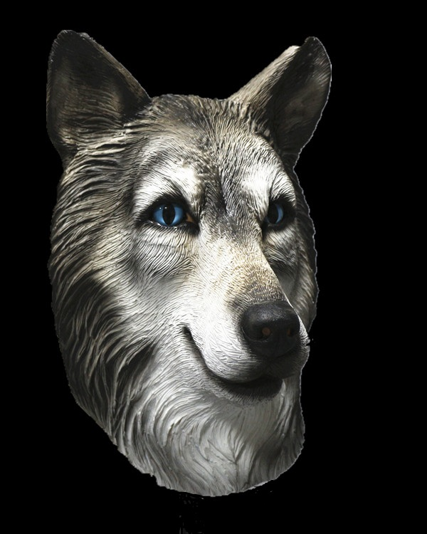 Crazy & Terror Animal Wolf Full Head Latex Mask For Made up Party Cosplay ...