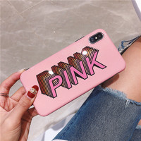 100PCS Luxury Glitter Bling Case For iphone 6 6s 7 8 8plus Case Fashion Pink Cover Phone Cases For iphone X XS XR XS MAX Coque