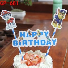 1 Set Birthday Cupcake Toppers Plug-in Cake Decorations for Kids Happy Birthday Party Cake Wedding Cake Topper Decor Accessories 1 pcs mini digital birthday candles happy birthday cake decor wedding cake topper sesame street party birthday cake accessories