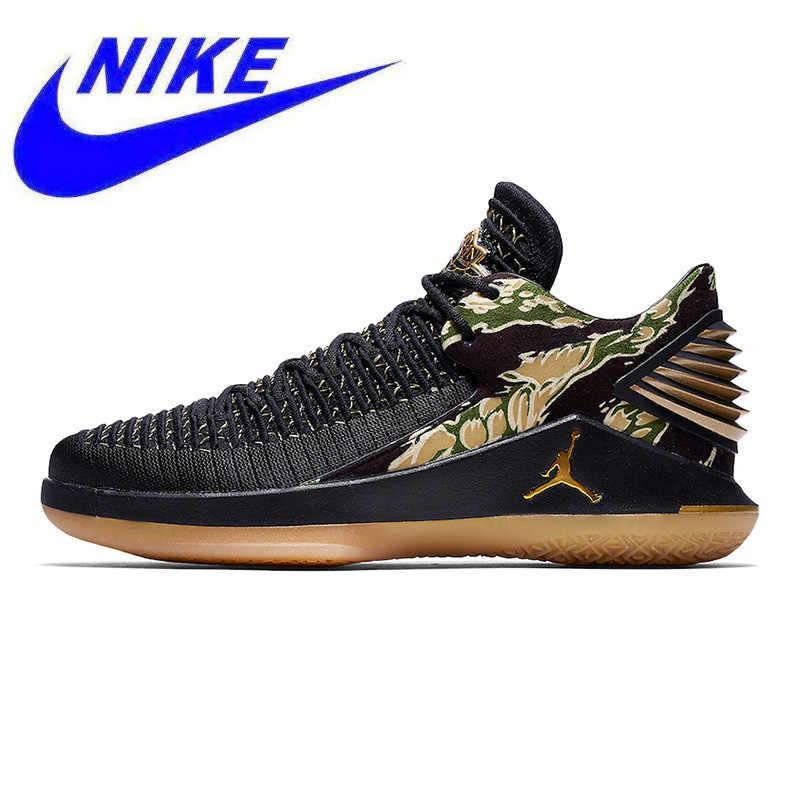 4936cd16fe8 Breathable Nike Air Jordan XXX2 Low Tiger Camo Men's Basketball Shoes, Black,  Shock Absorption