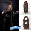 Sofeel wigs for women perruque synthetic wig Harry Potter Bellatrix Lestrange cosplay wig high temperature fiber synthetic wigs
