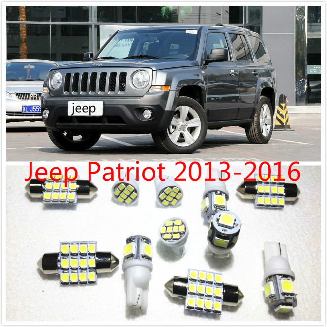 11 Set White LED Lights Interior Package 10 & 31mm Map