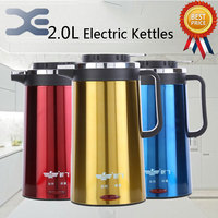 High Grade Stainless Steel Tetera Electric Kettle Electric Kettle Anti Hot Automatic Power Wasserkocher