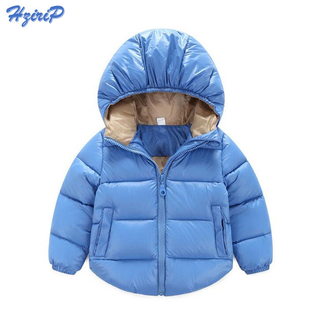 10 Colors 2016 Winter Girls Boys Russian Exports Padded Button Down Jacket In Cotton Winter Outwear Jacket For Children CR6031