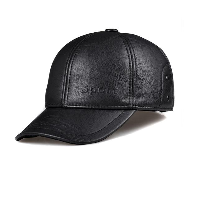 CBD HL095 cap chapéu de beisebol dos homens de couro genuíno de couro real dos homens de alta qualidade sólida adulto chapéus ajustáveis caps