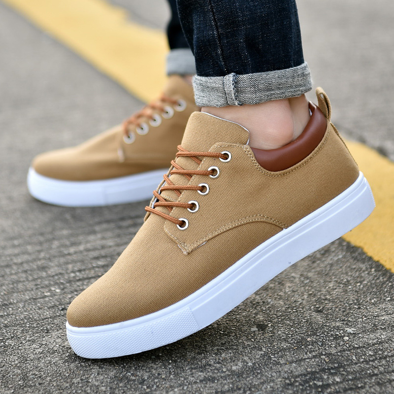 ca6018906942 2018 New Fashion Men Canvas Shoes Lace-Up Height Increasing Lightweight Men  Casual Shoes Male Footwear Sneakers YET636