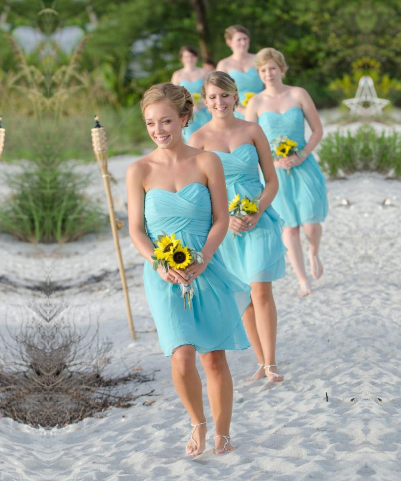 Popular light blue wedding buy cheap light blue wedding for Blue beach wedding dresses