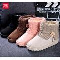 Las Mujeres clásicas Del Tobillo Plataforma Botas de Nieve Tejer ugs Australia Zapatos de Invierno Casual Algodón Femal ugs Capota de lona Ocasional Impermeable