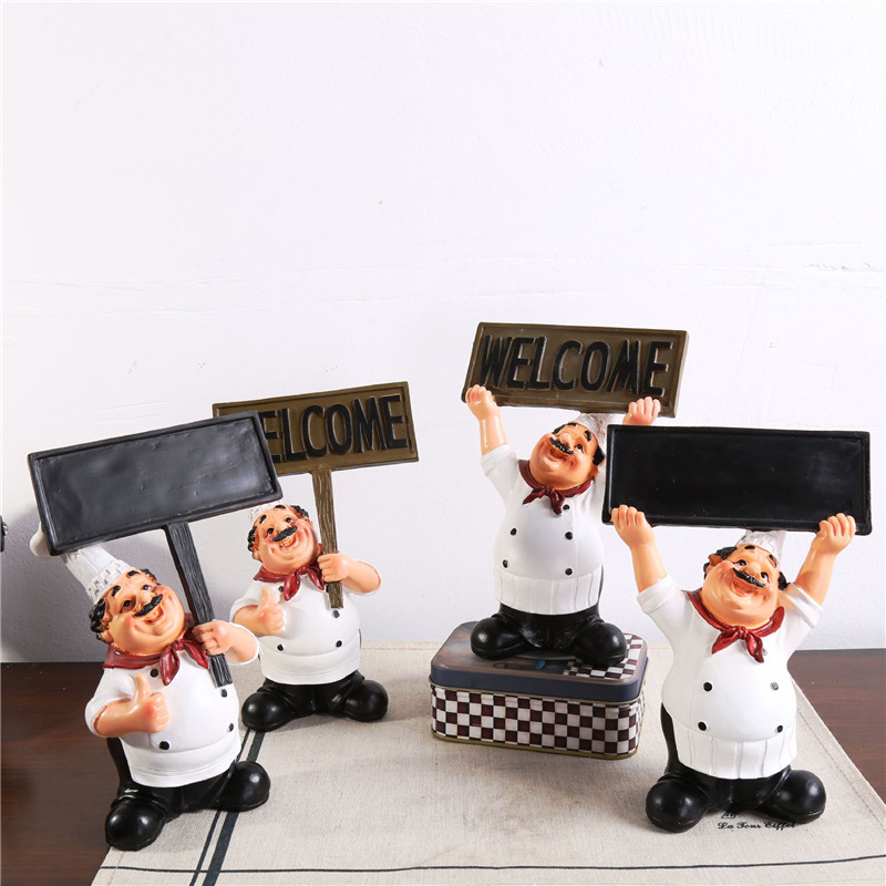 Cafe Character Small Ornaments Western Restaurant Chef Blackboard Welcome Brand Meal Fashion Creative Furnishings