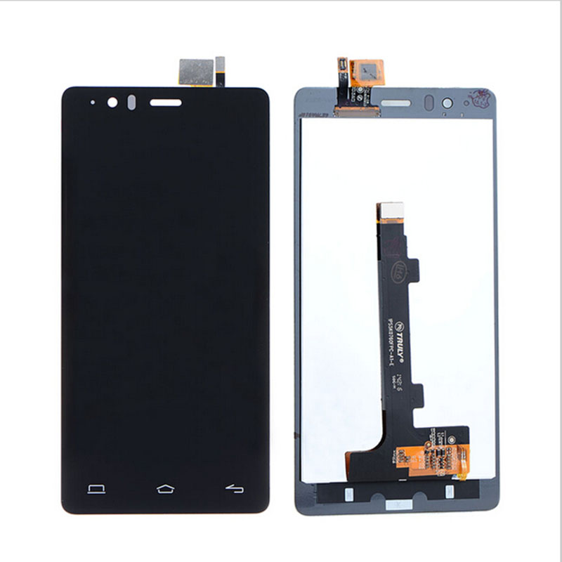 ФОТО Black Display Glass Digitizer For BQ E5.0 (0858) Front Touch Screen +LCD Digitizer Sensor Replacement