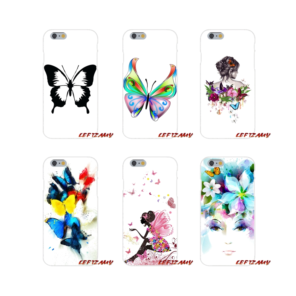 Watercolor Butterfly Pink Love Heart Accessories Shell Case For Huawei P Smart Mate Y6 Pro P8 P9 P10 Nova P20 Lite Pro Mini 2017