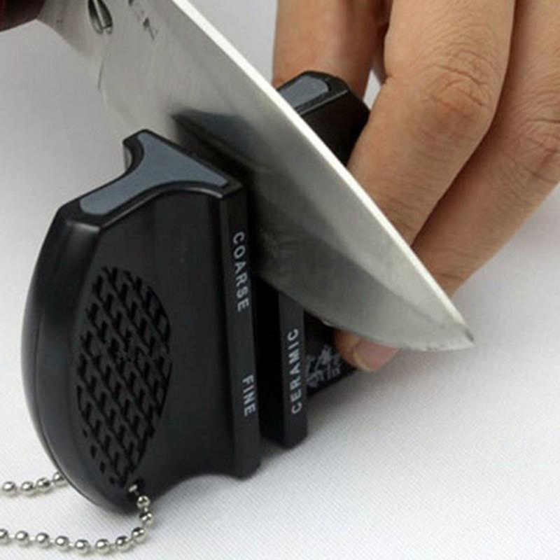 มีด Sharpener เครื่องมือง่ายปลอดภัยใช้ Sharpen เชฟมีดกรรไกร Sharpening ระบบใบมีด Sharpener ครัวเรือน Gadget