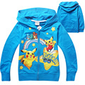 Hot 2016 Autumn Boys Outwear Hoodies Children's Sweatshirts For Boys Kids  Pokemon Go Cartoon  Coat Tops Costume