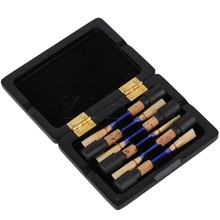 Yibuy Black Wooden Oboe Reeds Case 6 Oboe Reeds Storage Close Tightly Open Easily
