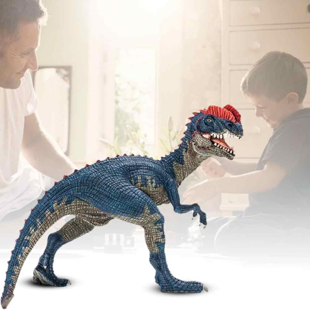 4 polegada 14567 Parque Jurássico Dilophosaurus Dinosaur Modelo Brinquedos Dupla Crista Lagarto PVC Action Figure brinquedos para as crianças presentes