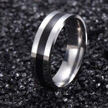 Золота titanium белого band матовый свадьба твердые кольца нержавеющей стали из