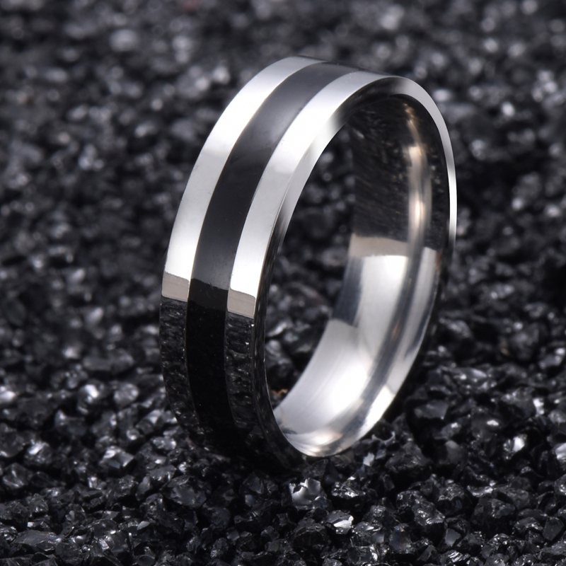 Titanium Band Rings White Gold Brushed Wedding 316L Stainless Steel Solid Ring Men Women Gift G15