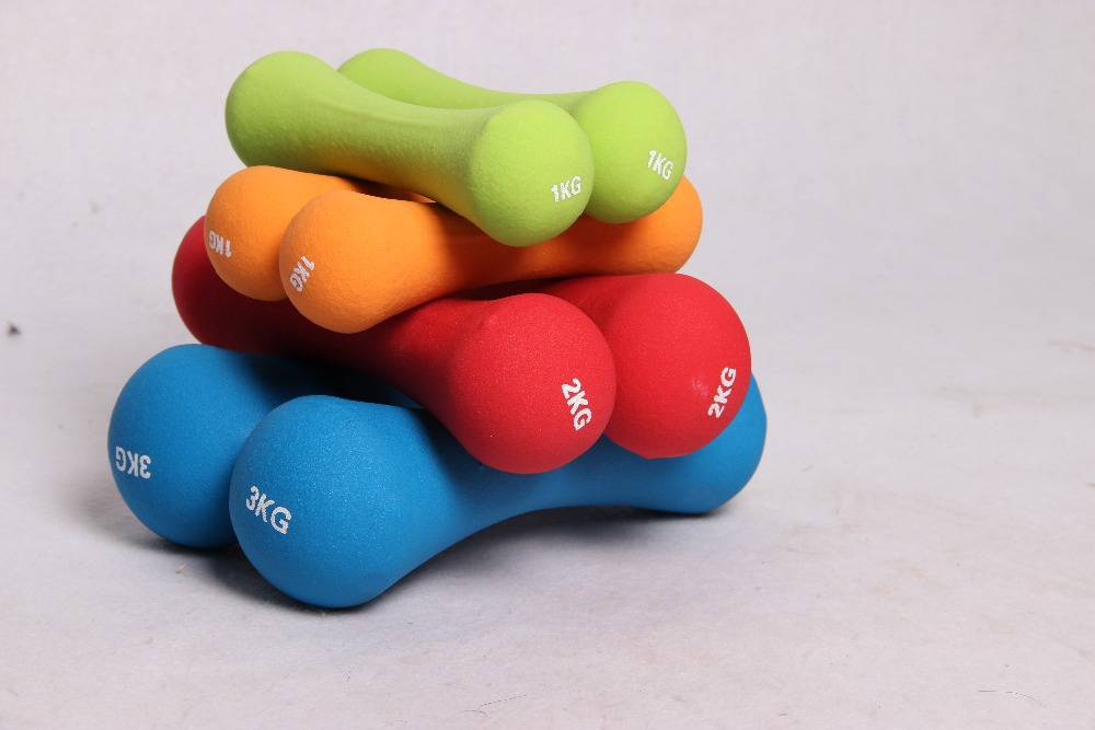 Os dénoyauté en forme de 1.5 kg poids de la main haltère de yoga pour les femmes musculation équipement de fitness outil de sport pour la livraison gratuite