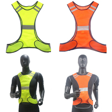 High Visibility Reflective Safety Vest Cycling Vest Warning Breathable Mesh Reflective Vest For Running Walking Cycling Jogging цена