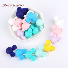 Mother Kids - Baby Care - TYRY.HU Silicone Beads Teether Safe Biter Beads Baby Teething Pendant Silicone Pacifier Clips BPA Free Teething Toys Mouse Shape