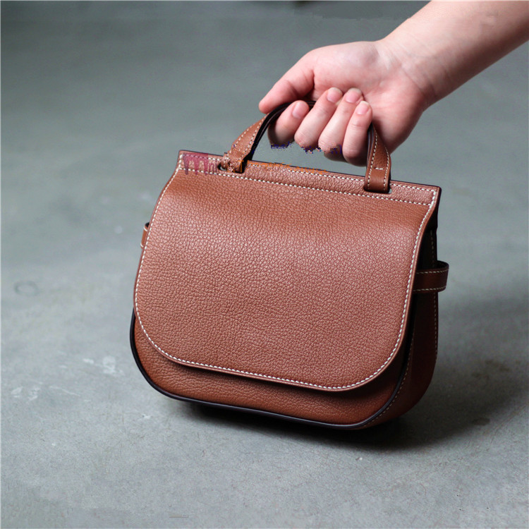 DIY Leather Bag Paper Drawing  Amberley Style 3.38mm BDQ-170 Saddle Bag Paper Pattern