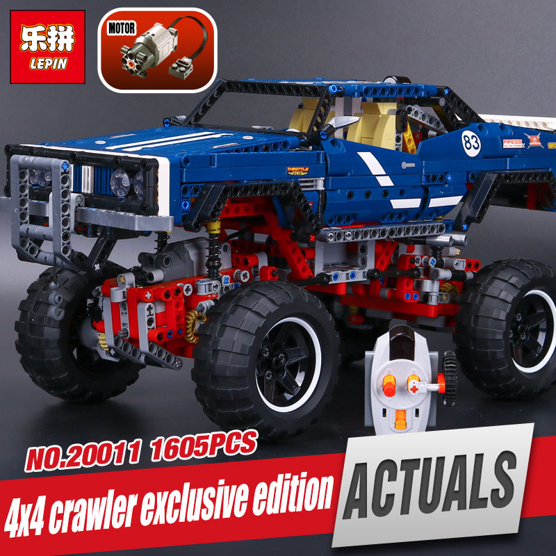 New LEPIN 20011 1605Pcs Technic SUV 4x4 Crawler Exclusive Edition Model Educational Building Kit Blocks Brick Toy Gift 41999