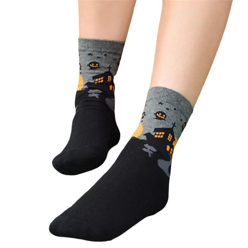 Women's Fashion Sports Socks Medium Work Business Socks Halloween printed Coral Fleece socks Highly elastic warm socks #2s26 (4)