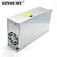 SZYOUMY 600W Switching Power Transformer 12V 50A LED Power Converter Non Waterproof Power Supply LED Driver With Heatsink Fan