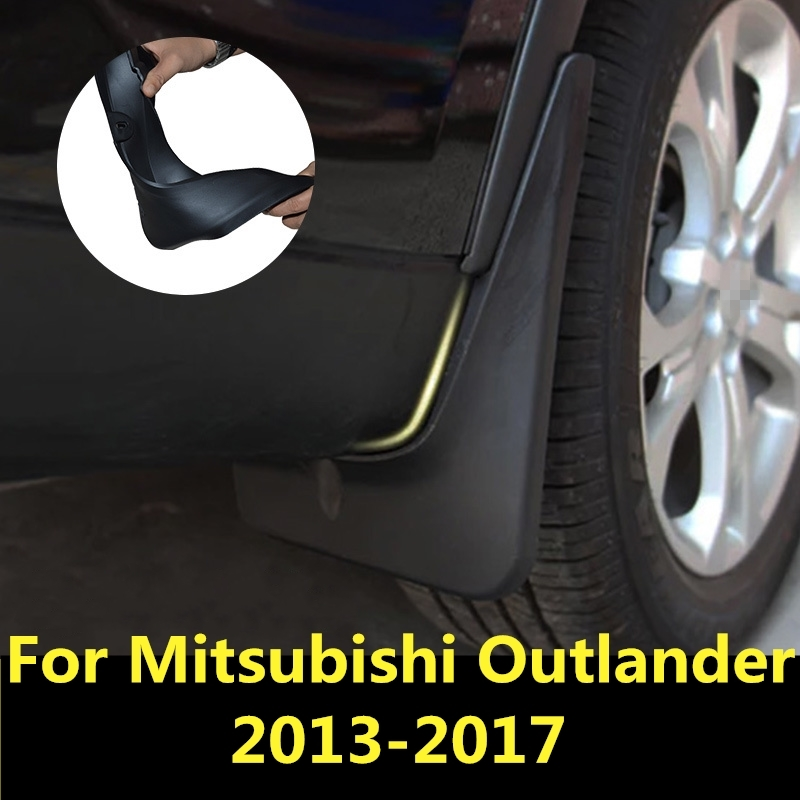 For Mitsubishi Outlander 2013 2017 Car Mud Flaps Mudflaps Splash Guards Mud Flap Mudguards ...