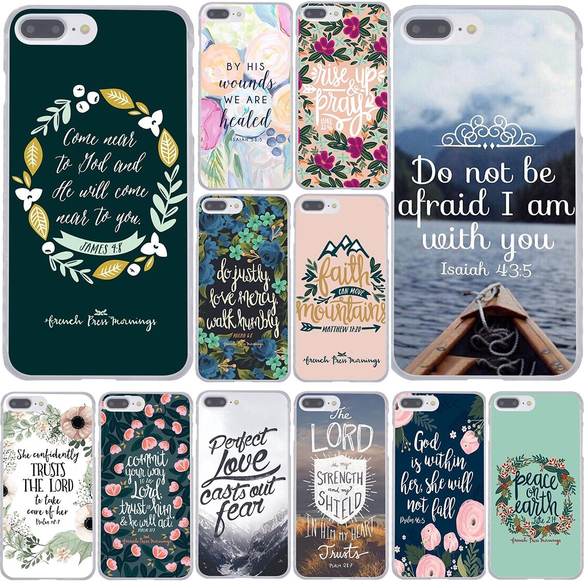 Bible verse Philippians Jesus Christ Christian Phone Cover Case for Apple iPhone 7 7 Plus 6 6s Plus 5 5S SE 5C 4 4S Coque Shell