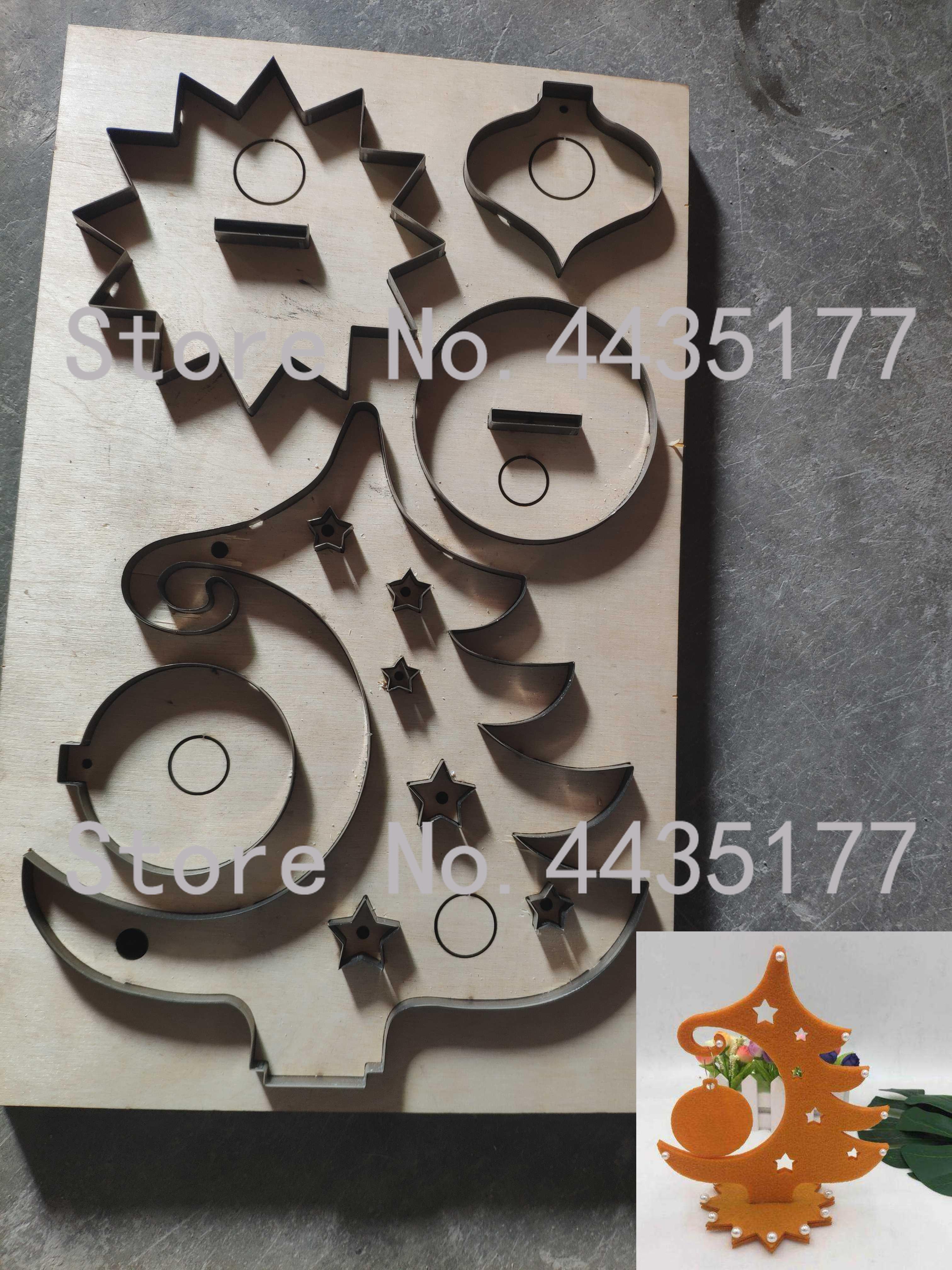 Règle de lame en acier du japon poinçon en acier découpé avec des matrices en bois de moule de coupe d'étiquette d'arbre de noël pour le coupeur en cuir pour l'artisanat en cuir