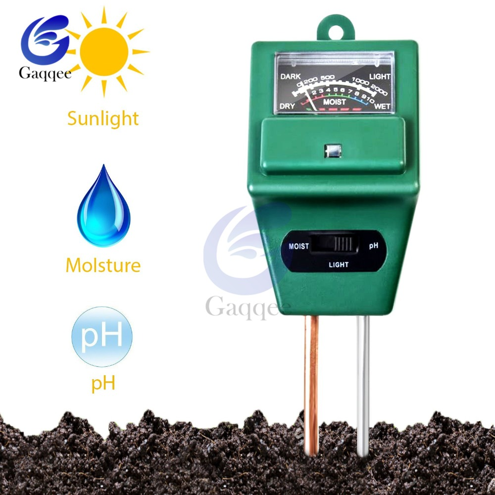 3 In 1 Soil Water Moisture Light PH Meter Tester Digital Analyzer Test Detector For Garden Plant Flower Hydroponic Garden Tools