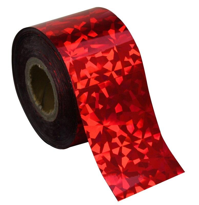 120 Mt * 4 Cm 1 Rolle Red Farbe Transferfolie Nägel Kunst Neue Design Aufkleber Für Polnisch-sorgfalt-diy Diy Frauen Nagelspitze Dekoration Wy231
