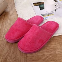 Fashion Women fur slippers Warm Home Plush Soft Flats Slippers Indoors Anti-slip Winter Floor Bedroom shoes woman flip flops(China)