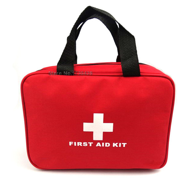 2017 First Aid Kit  Big Car First Aid kit  Large outdoor Emergency kit bag  Travel camping  survival medical kits 25*18*8 CM