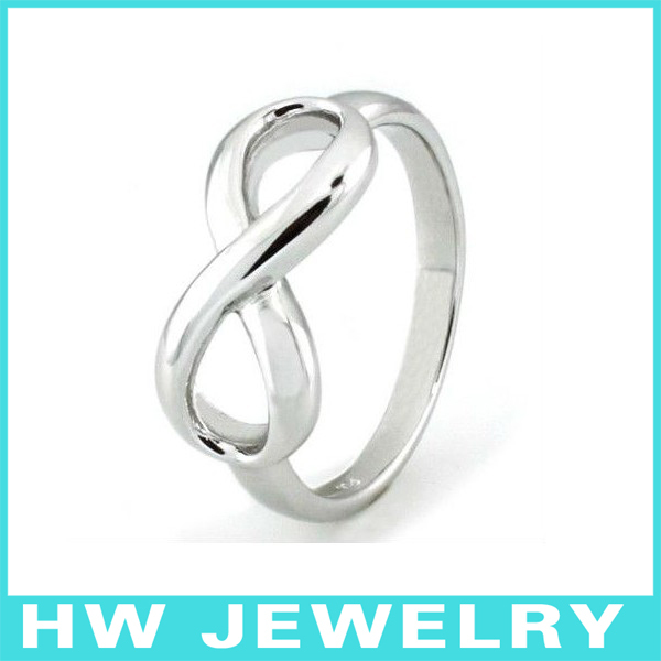 31827 silver infinity ring-in Rings from Jewelry & Accessories on AliExpress