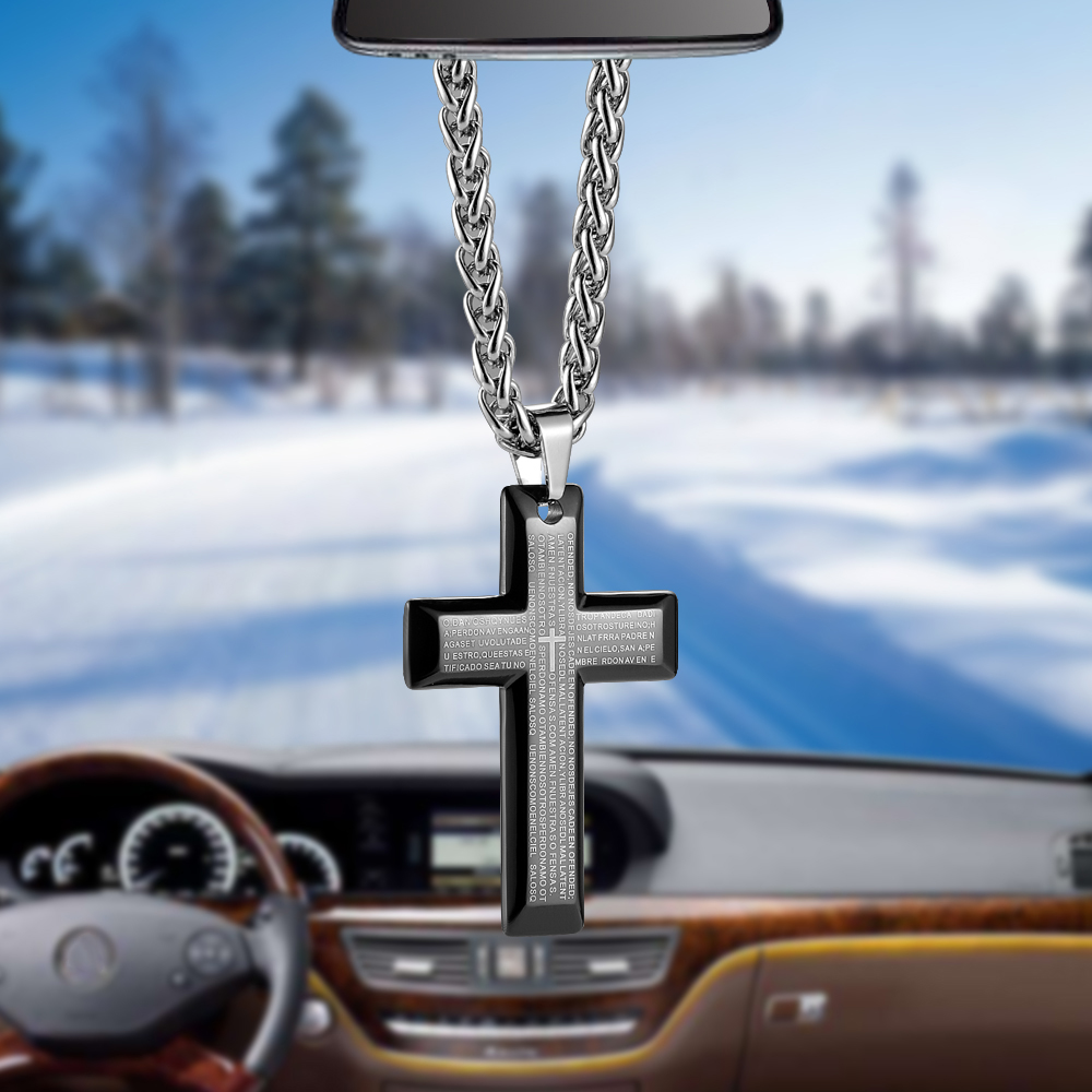 Car Pendant Unique Titanium Steel Bible Cross Automobile Interior Rearview Mirror Hanging Dangle Ornament Decoration AccessoriesCar Pendant Unique Titanium Steel Bible Cross Automobile Interior Rearview Mirror Hanging Dangle Ornament Decoration Accessories