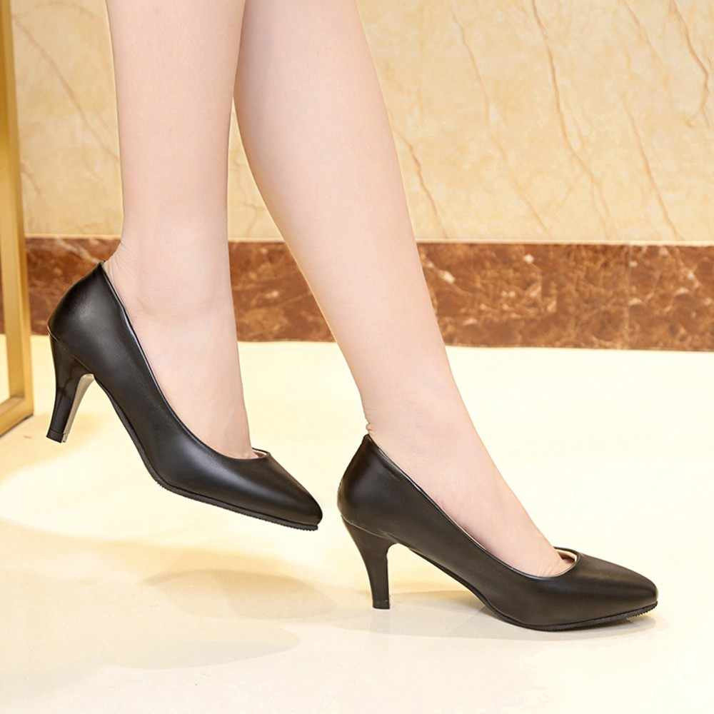 22a8263ab ... YOUYEDIAN женские кеды для офиса Обувь на высоком каблуке туфли-лодочки  без шнуровки на высоком ...