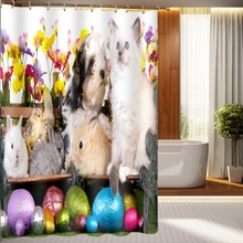 3d Shower Curtains Christmas Tree and Cat Dog Pattern Bathroom Curtain Waterproof Thickened Bath Curtain Customizable цены онлайн